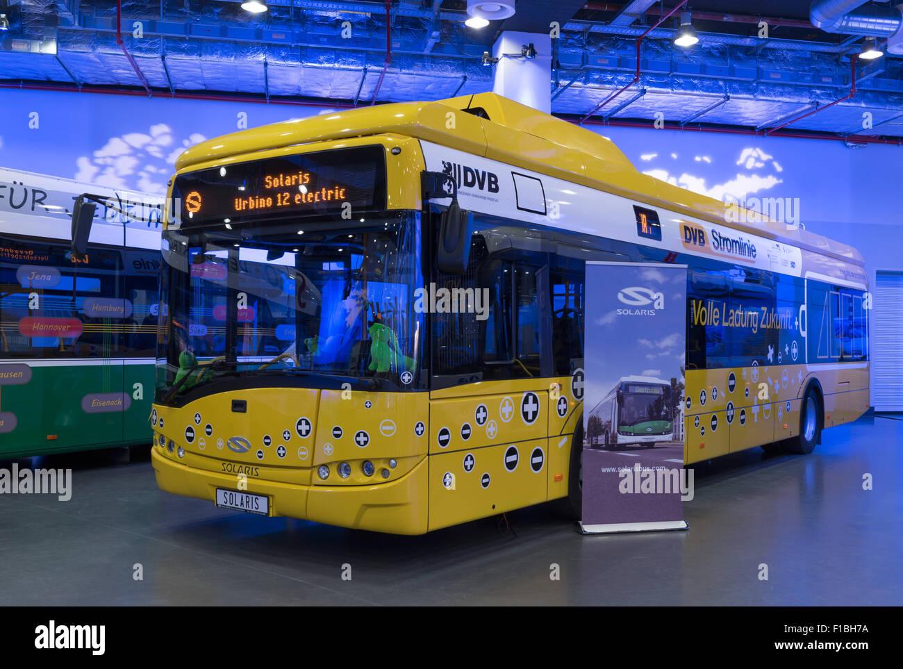Berlin, Germany, a Solaris Bus Dresdner Verkehrsbetriebe AG Stock Photo