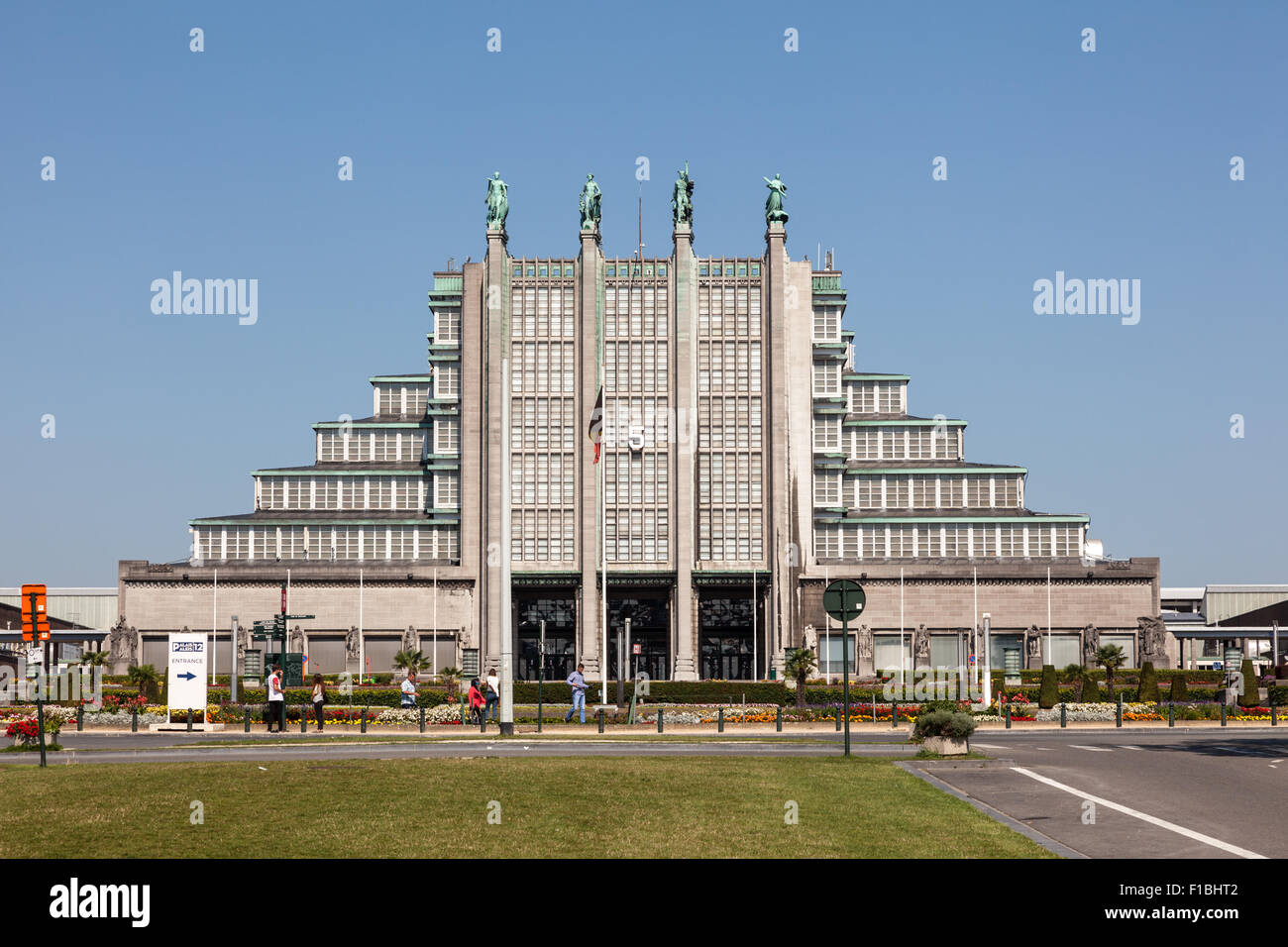Building at the World Fair in Brussels, Belgium - Stock Image