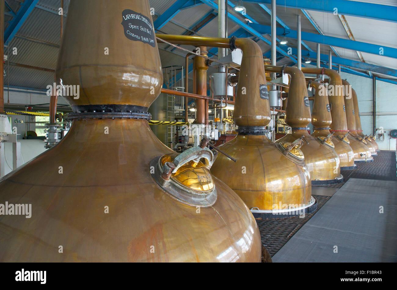 Laphroaig Whisky Distillery, Isle of Islay, Scotland, Great Britain - Stock Image