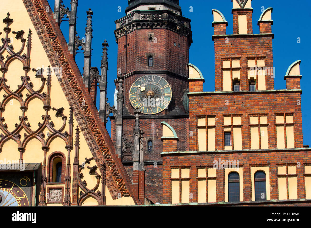 The medieval market square of the Rynek in Wroclaw, Poland. - Stock Image
