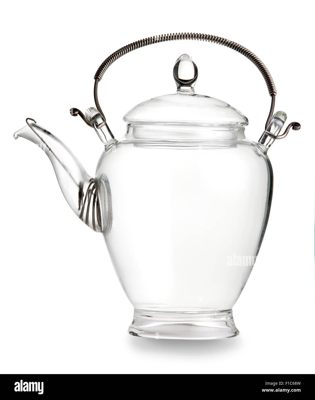 Glass Tea Pot - Stock Image