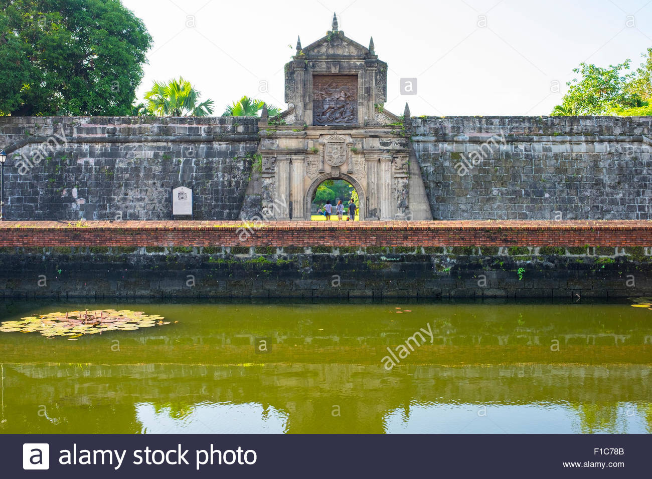 Reconstructed main gate entrance to Fort Santiago, Intramuros, Manila, National Capital Region, Philippines - Stock Image