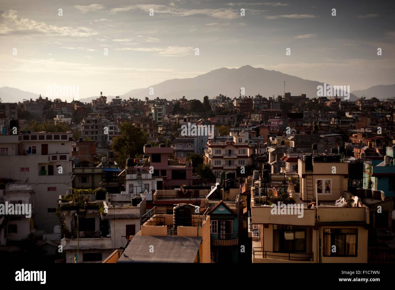 Kathmandu, view, houses - Stock Image