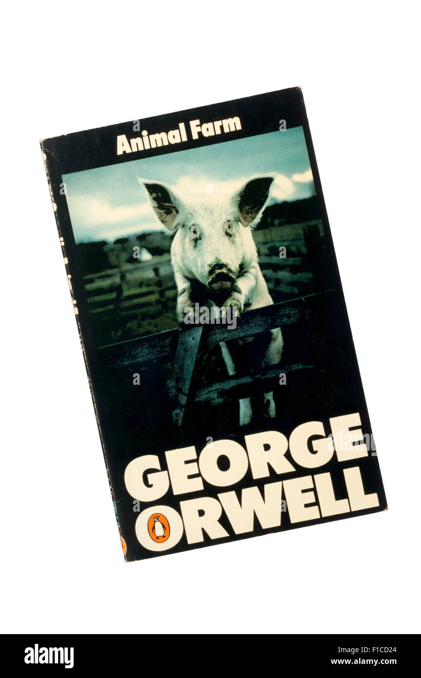 1976 Penguin edition of Animal Farm by George Orwell. Stock Photo