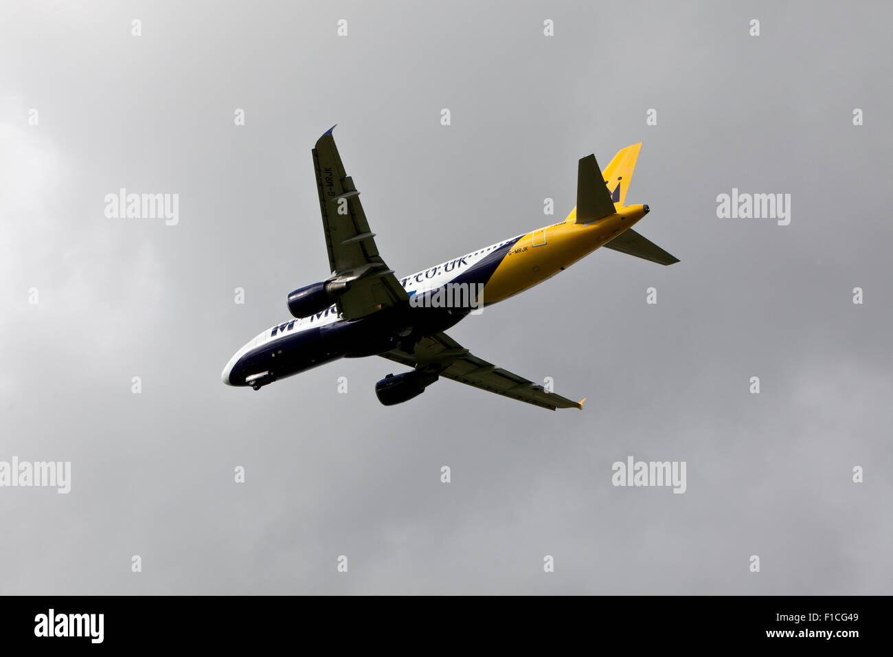 Airbus A320-200 Aeroplane owned by Monarch - Stock Image