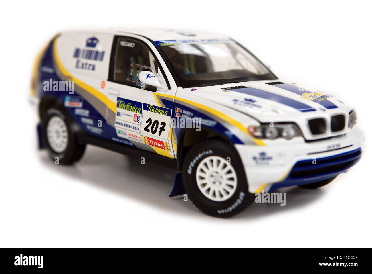 Model BMW X5 Rally X-Raid racing car - Stock Image