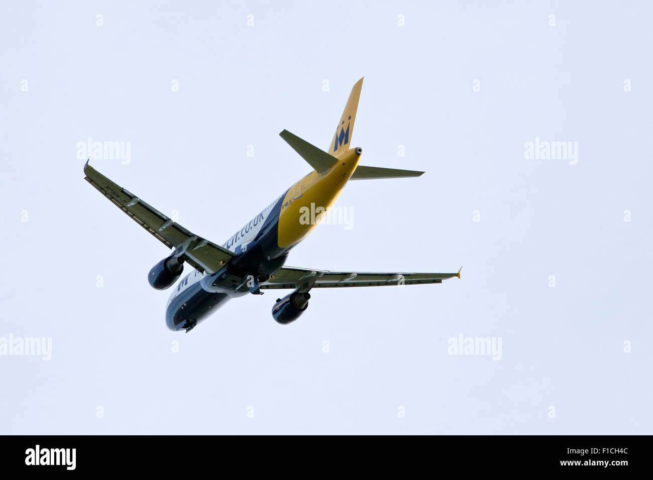 Airbus A320-200 Aeroplane owned by Monarch Airlines - Stock Image