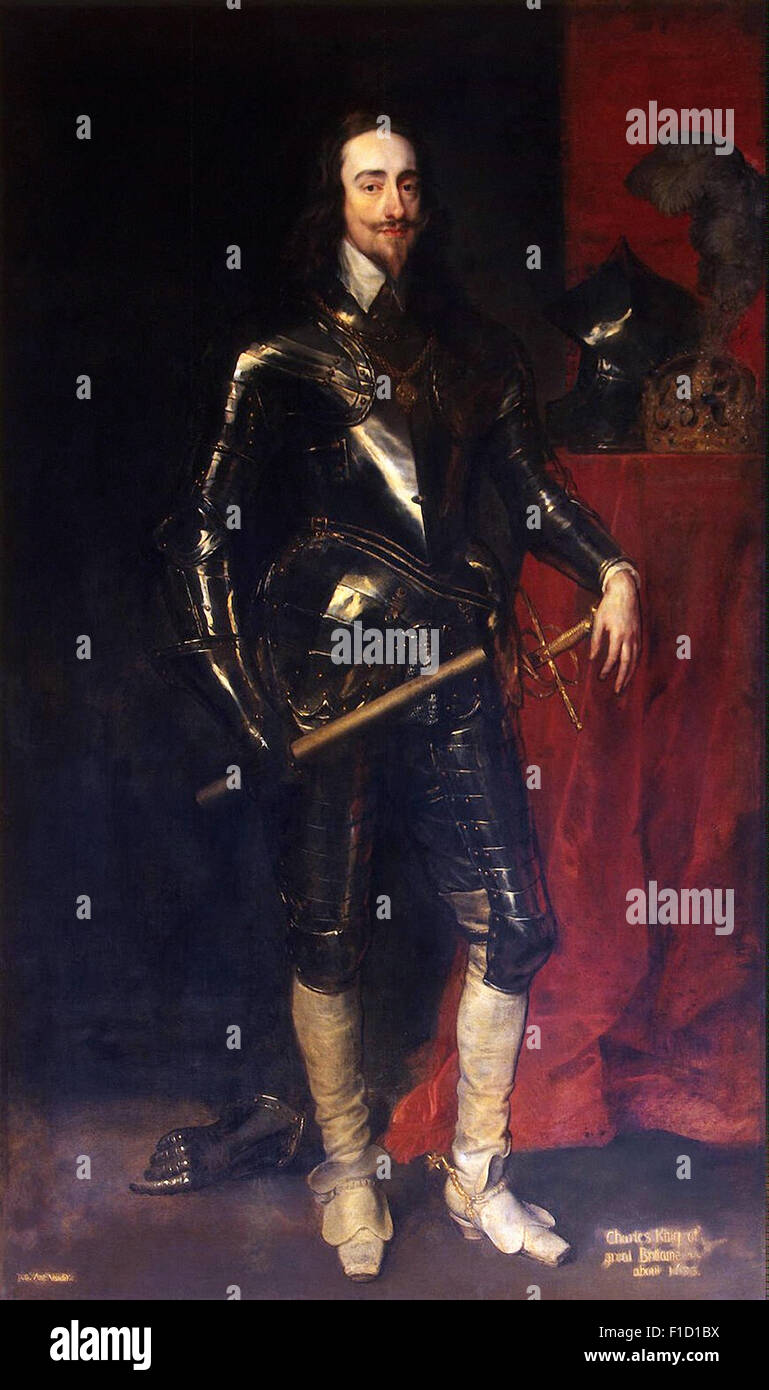 Anthony Van Dyck - Portrait of King Charles I - Stock Image