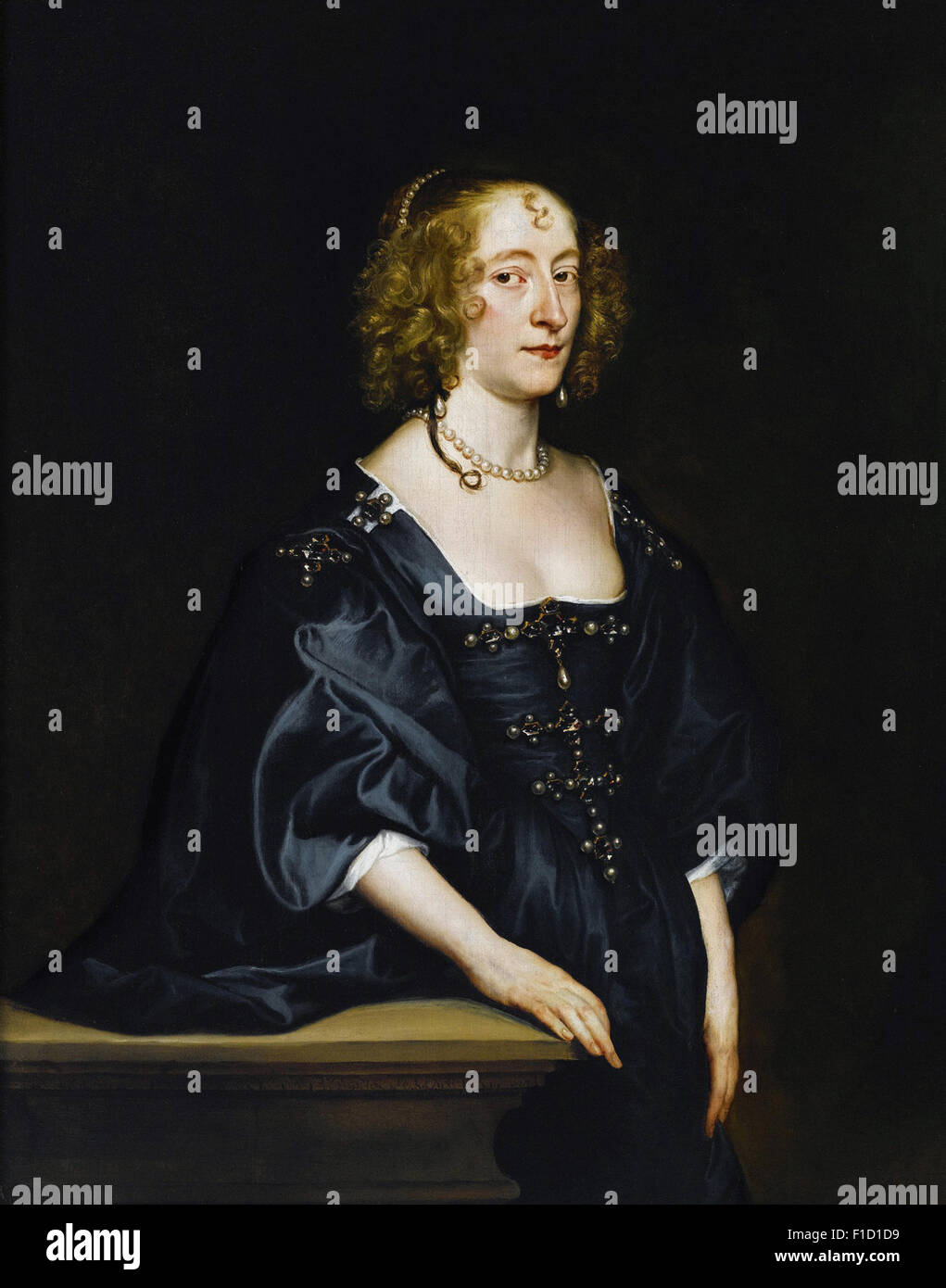 Anthony Van Dyck - Portrait of Frances Devereux, countess of Hertford, and later duchess of Somerset (1599 1674) - Stock Image