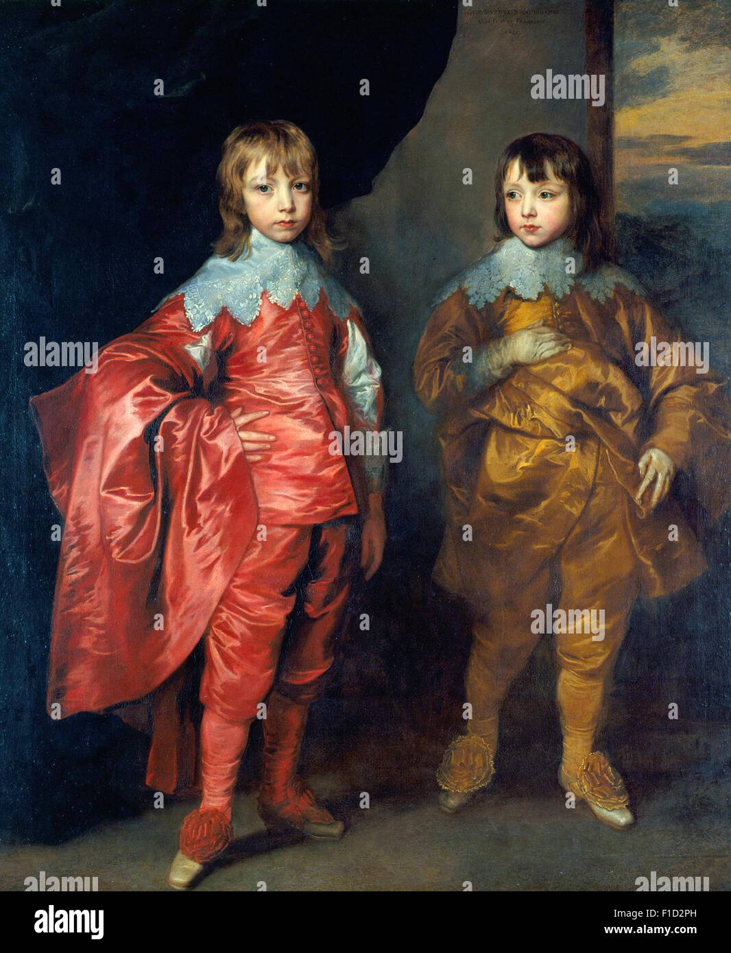 Anthony Van Dyck - George Villiers, 2nd Duke of Buckingham, and Lord Francis Villiers - Stock Image