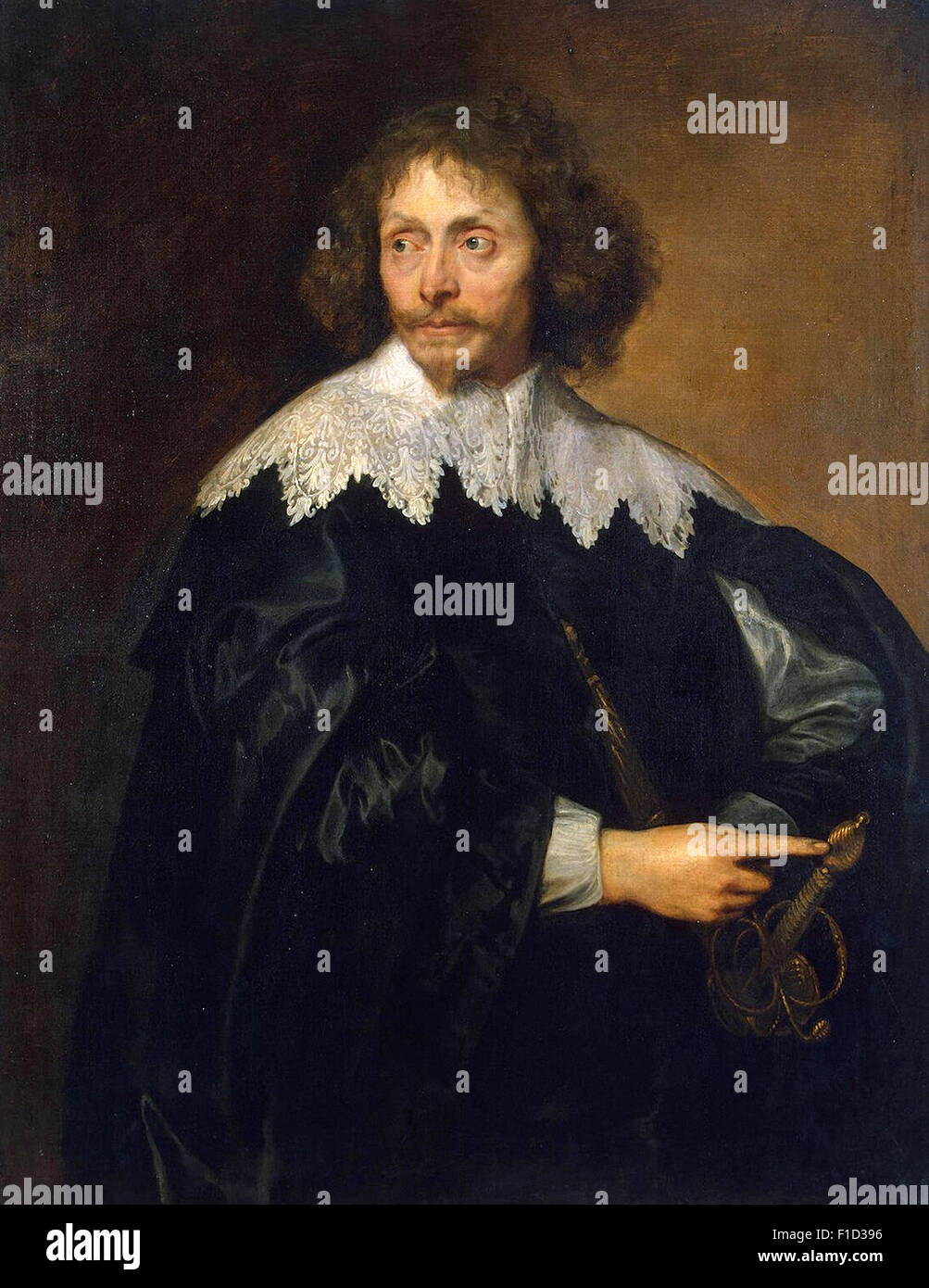 Anthony Van Dyck - Portrait of Sir Thomas Chaloner - Stock Image