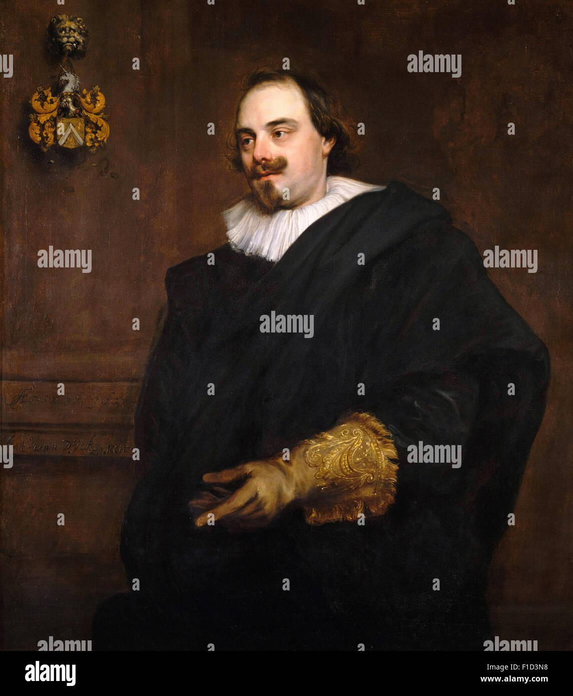 Anthony Van Dyck - Portrait of Peeter Stevens - Stock Image