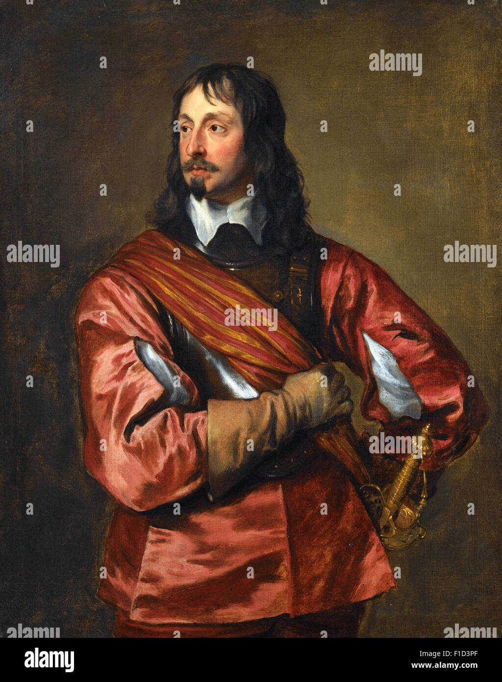 Anthony Van Dyck - Portrait of Sir John Mennes (1599 1671) - Stock Image