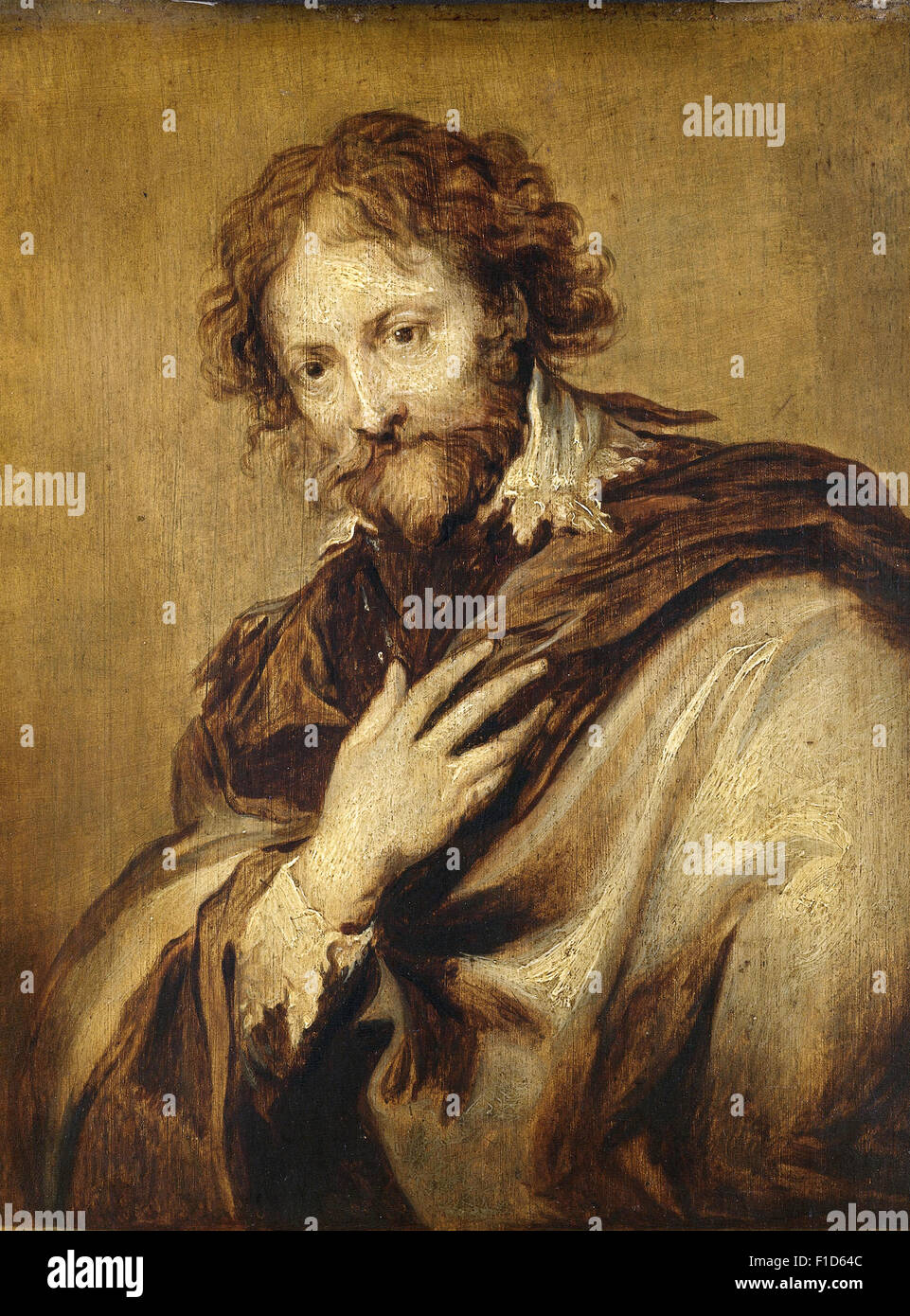 Anthony Van Dyck - Portrait of a Man, identified as Peter Paul Rubens - Stock Image