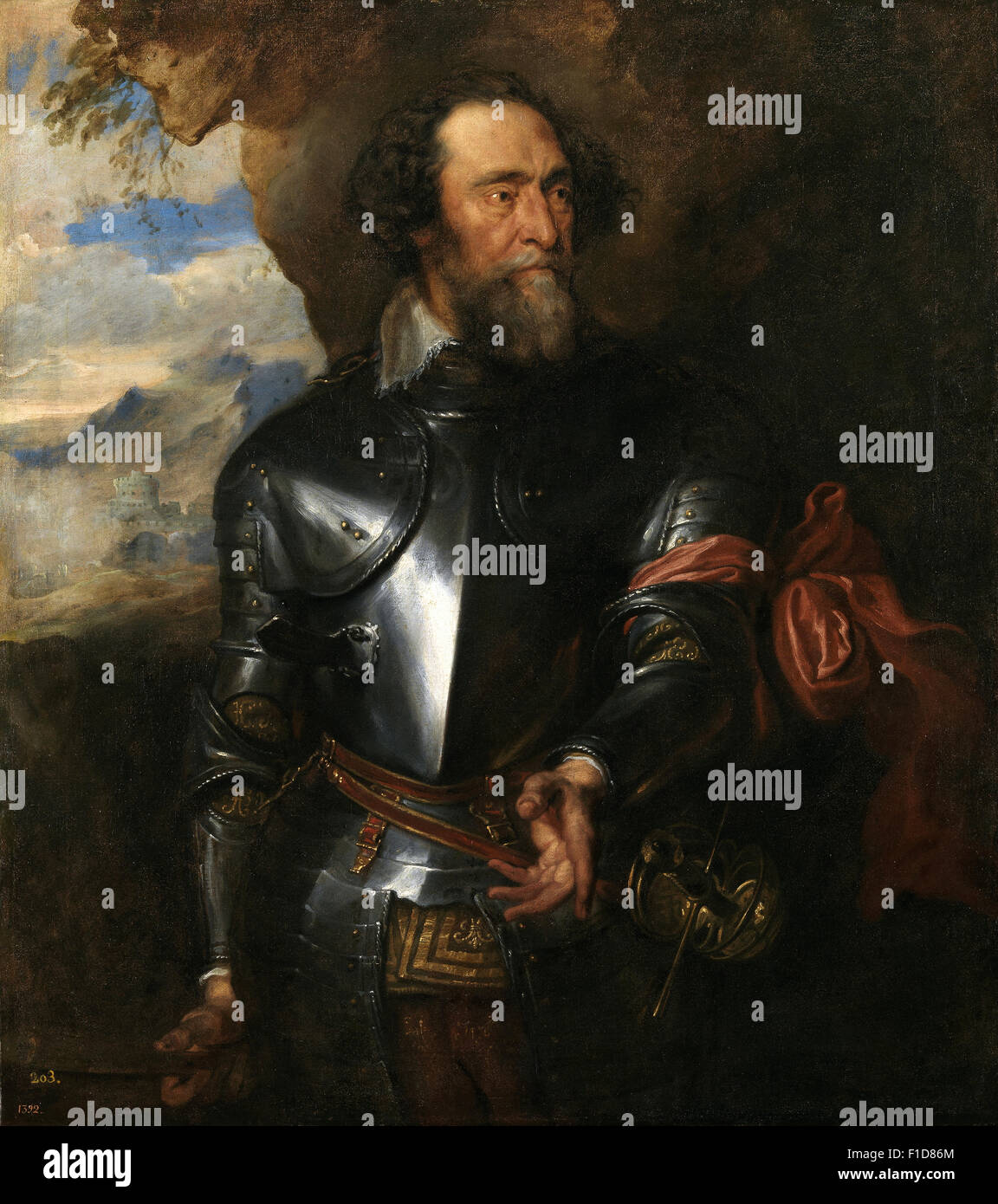Anthony Van Dyck - Count Enrique de Bergh - Stock Image