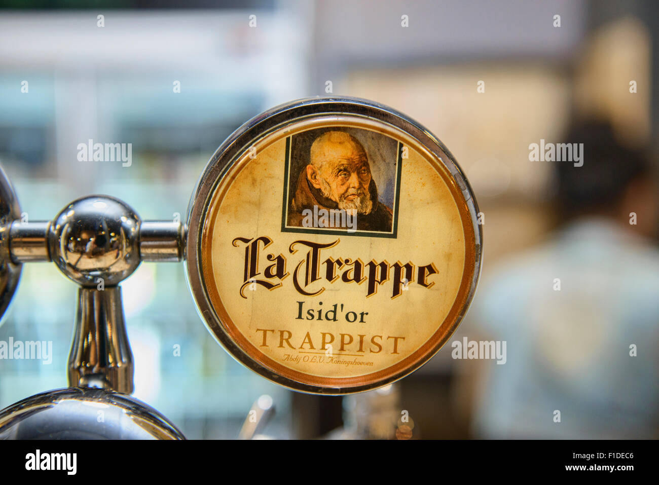 Enjoying Belgian beer - Stock Image