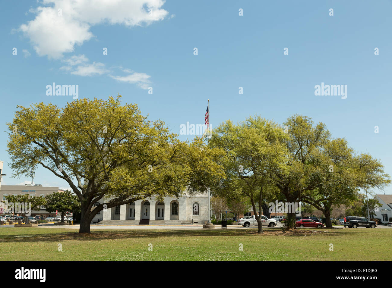 A Photograph Of City Hall In Downtown Biloxi Mississippi Usa Stock Photo 86966292 Alamy