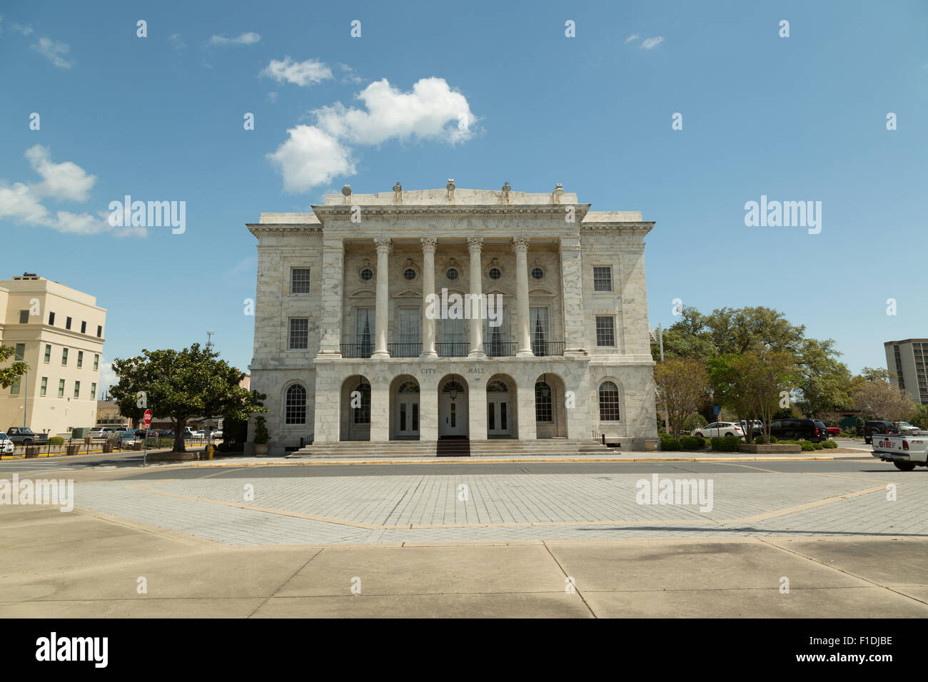 A Photograph Of City Hall In Downtown Biloxi Mississippi Usa Stock Photo Alamy