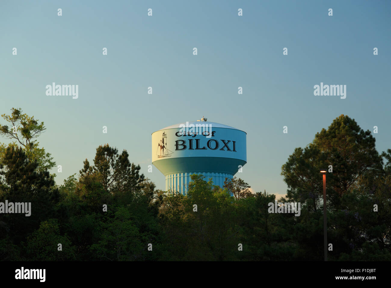 A Photograph Of Biloxi Water Tower Mississippi Usa Stock Photo