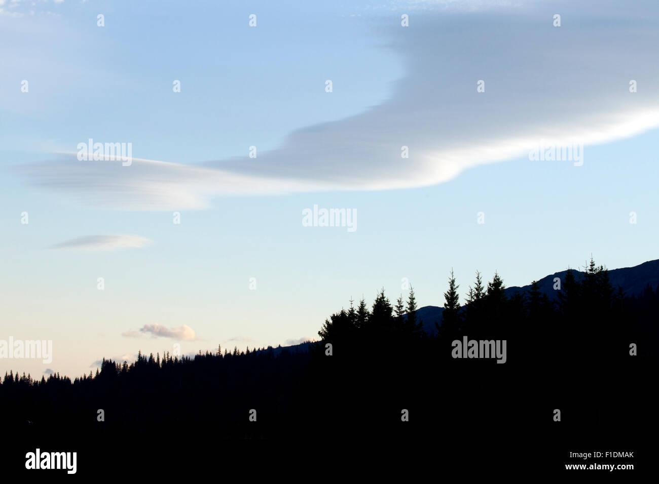 Unusual Shaped Cloud - Stock Image
