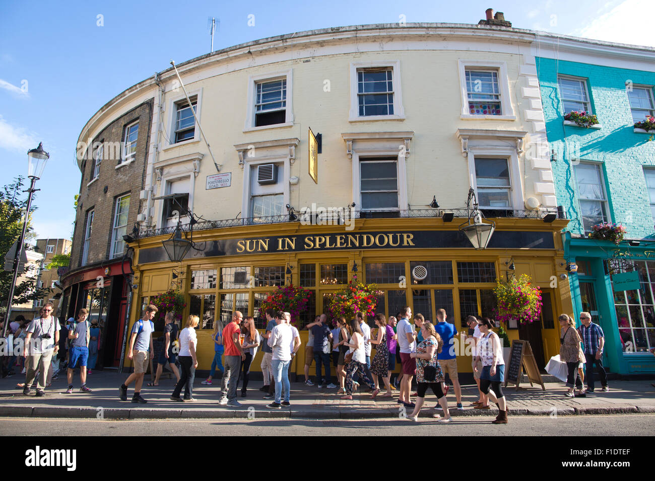 The Sun In Splendour pub, one of the oldest pubs in London, located on Portobello Road, Notting Hill, West London, - Stock Image