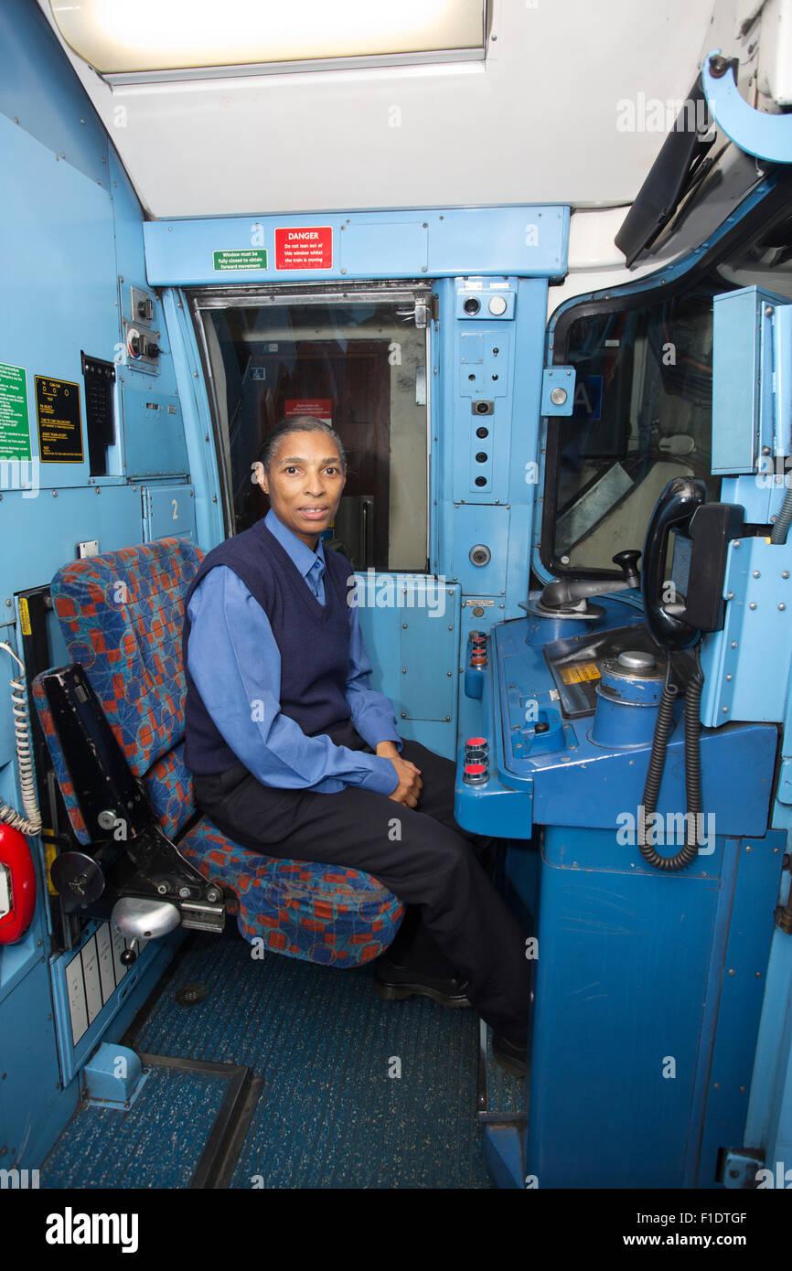 London Underground female Tube Driver - Stock Image