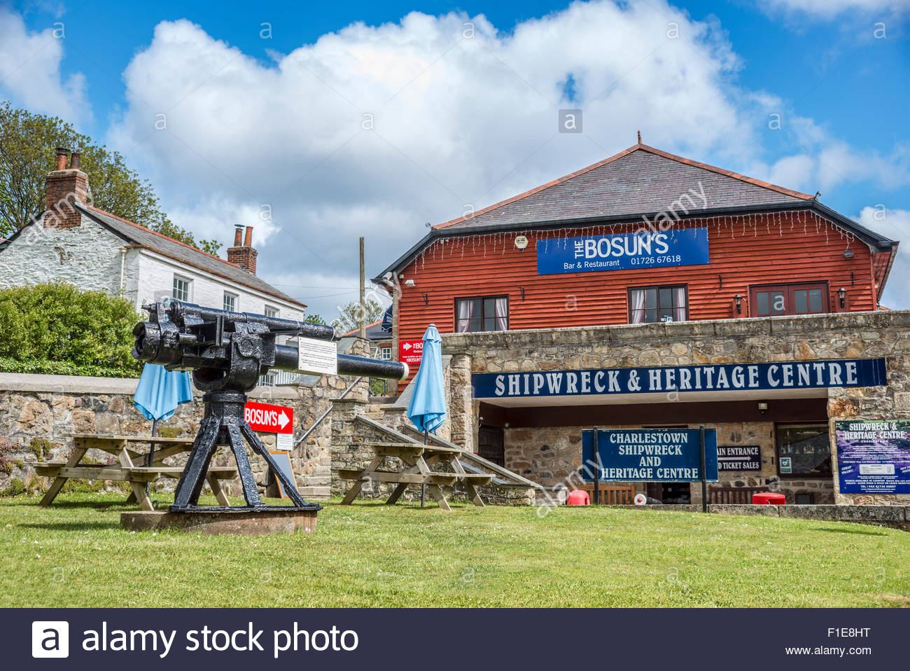 Shipwreck & Heritage Center, Charlestown, Cornwall, England - Stock Image