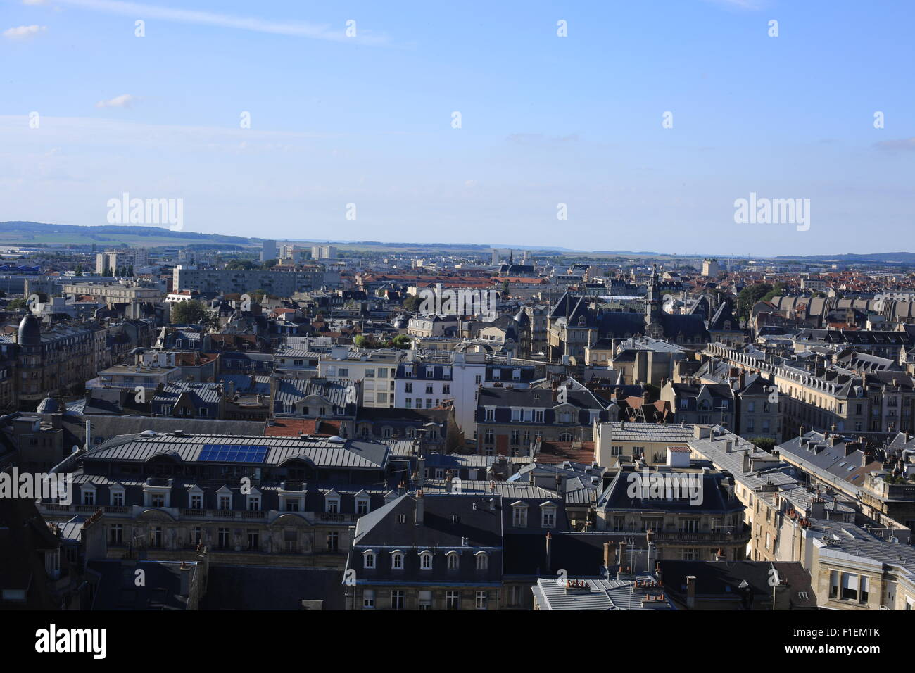 Reims from the Cathedral Stock Photo