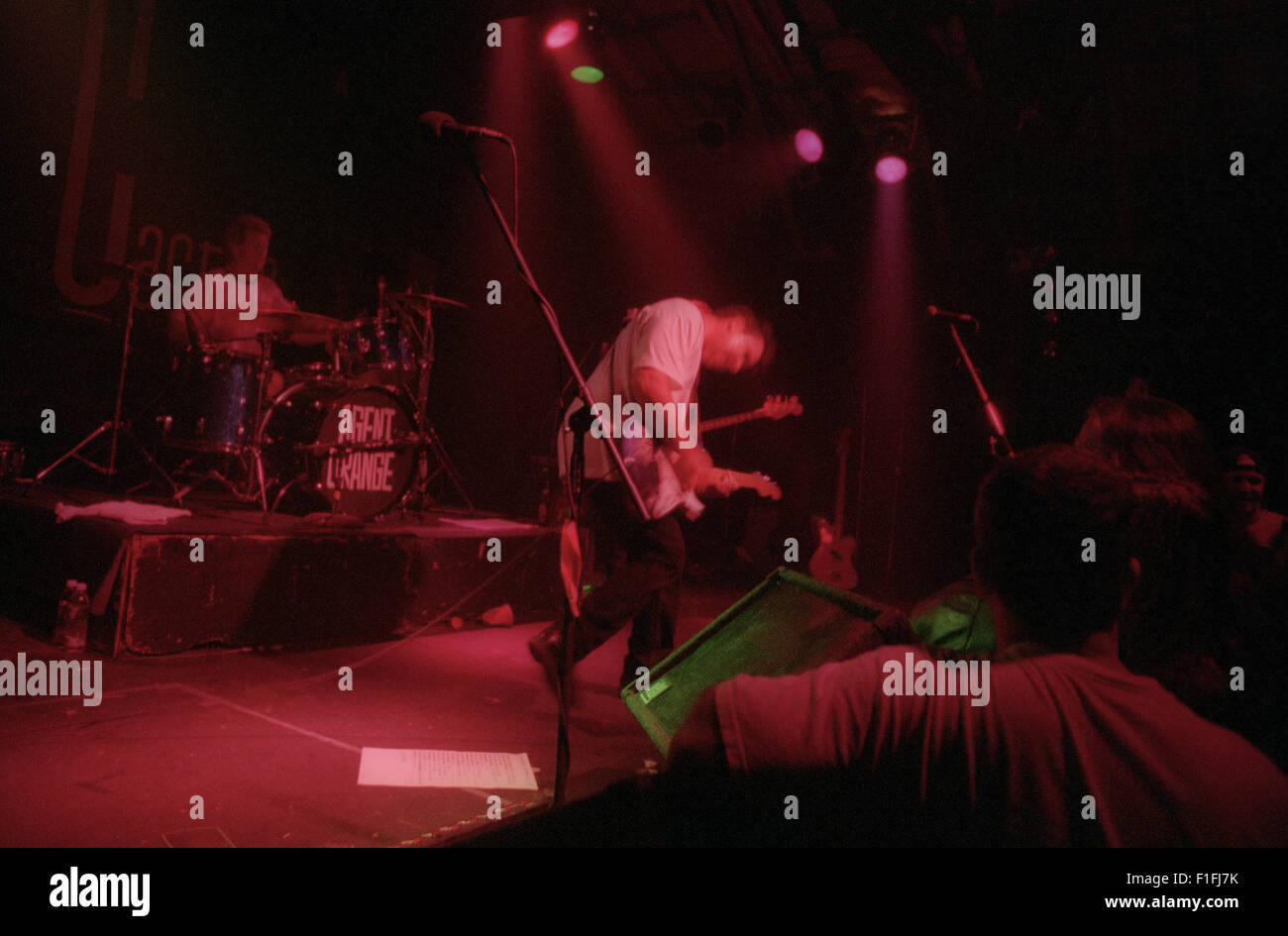 Southern California punk rock band Agent Orange plays a show at the Cactus Club in San Jose, California during 1995. - Stock Image
