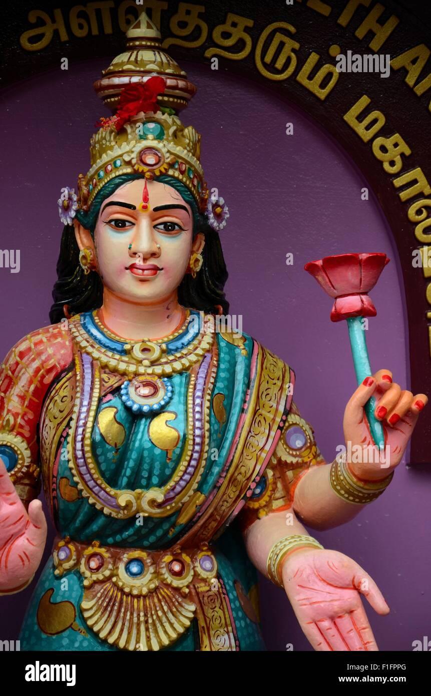 Hindu Goddess deity of wealth fortune and prosperity Lakshmi - Stock Image