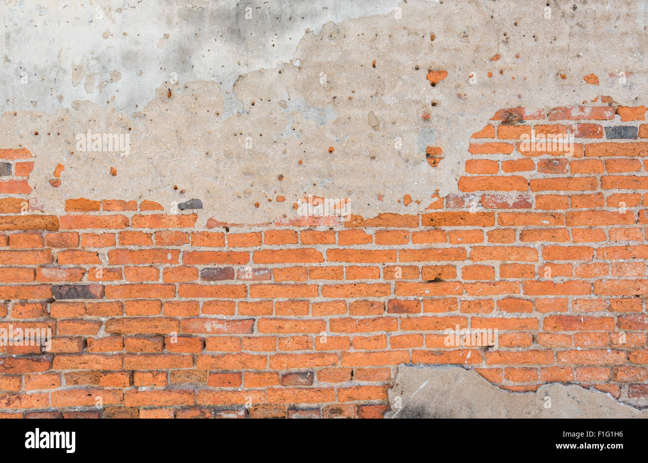 Background of old vintage brick wall, Wallpaper Pattern - Stock Image
