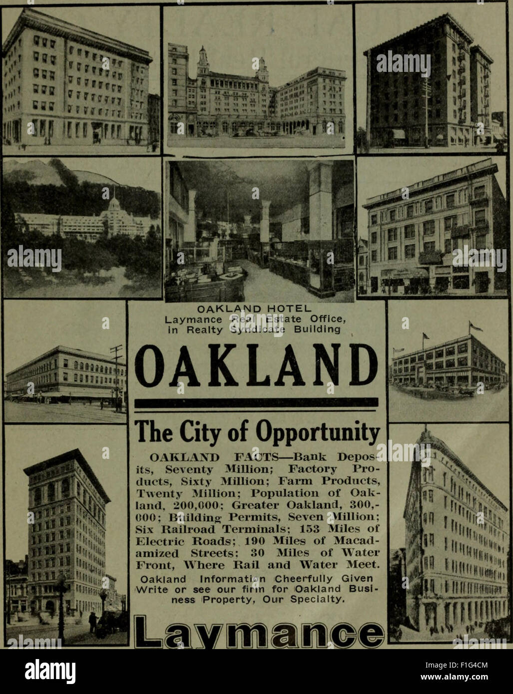Polk-Husted Directory Co.'s Oakland, Berkeley and Alameda directory (1915) Stock Photo