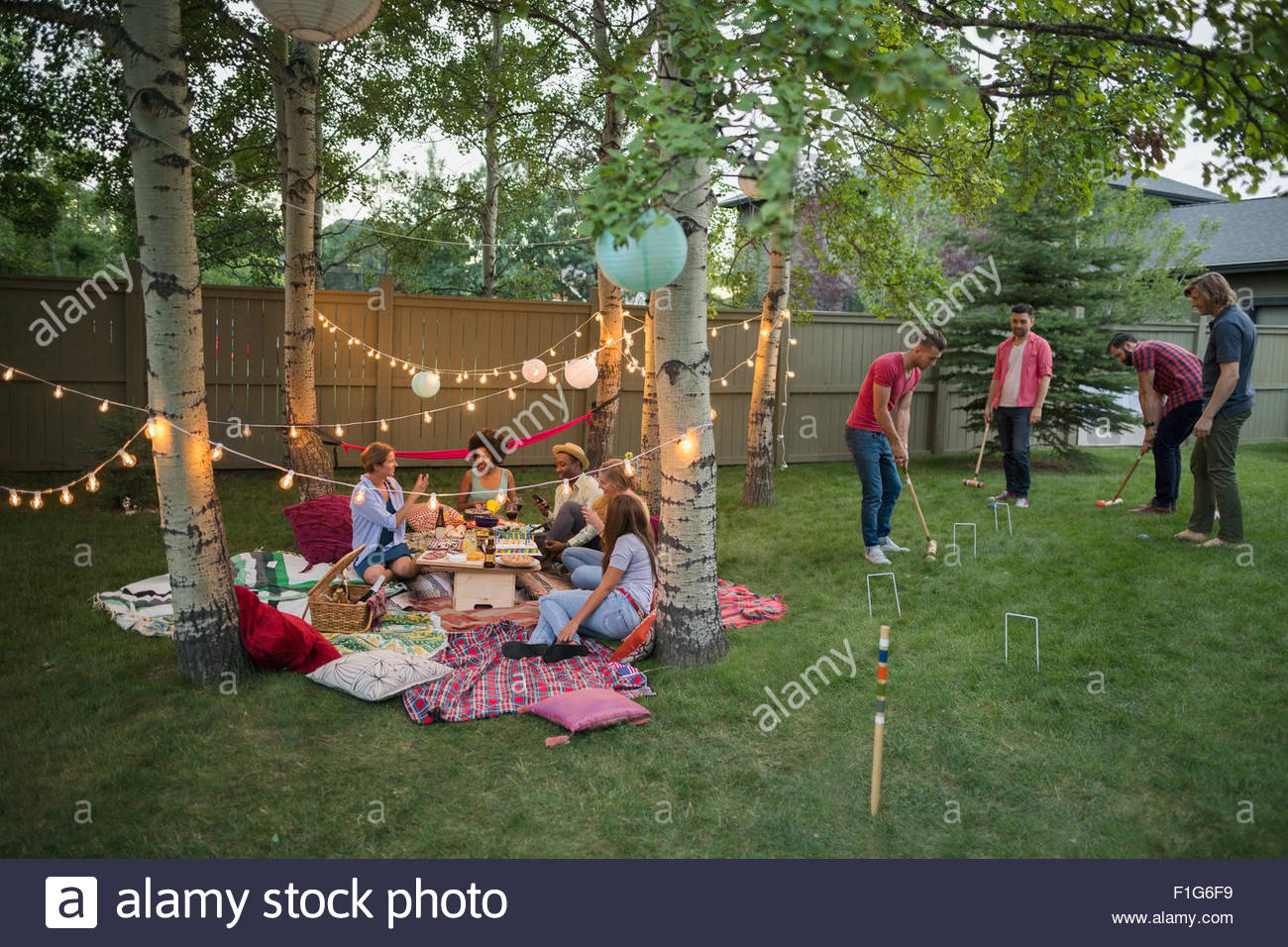Backyard Party Stock Photos & Backyard Party Stock Images - Alamy on
