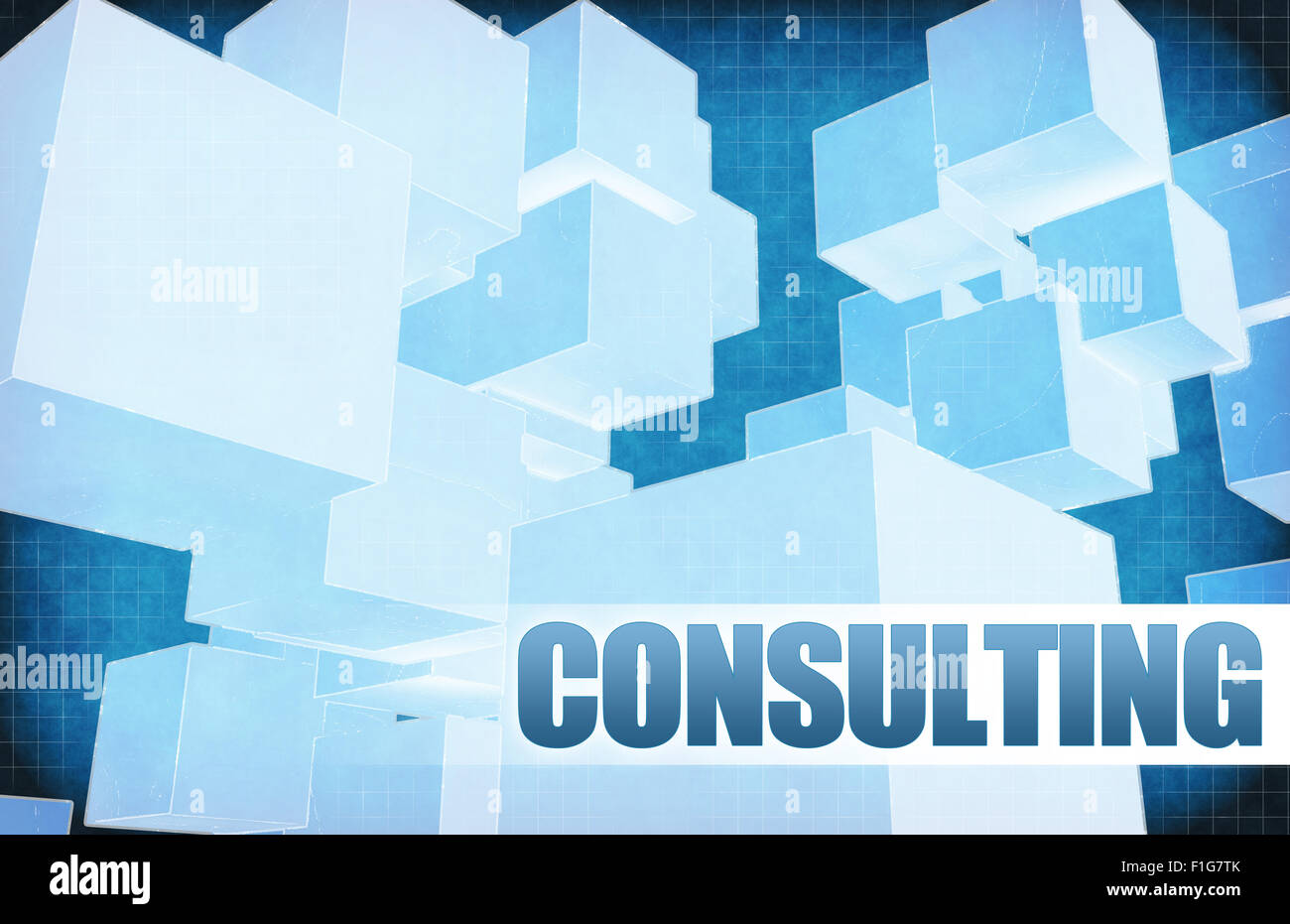 Consulting on Futuristic Abstract for Presentation Slide - Stock Image