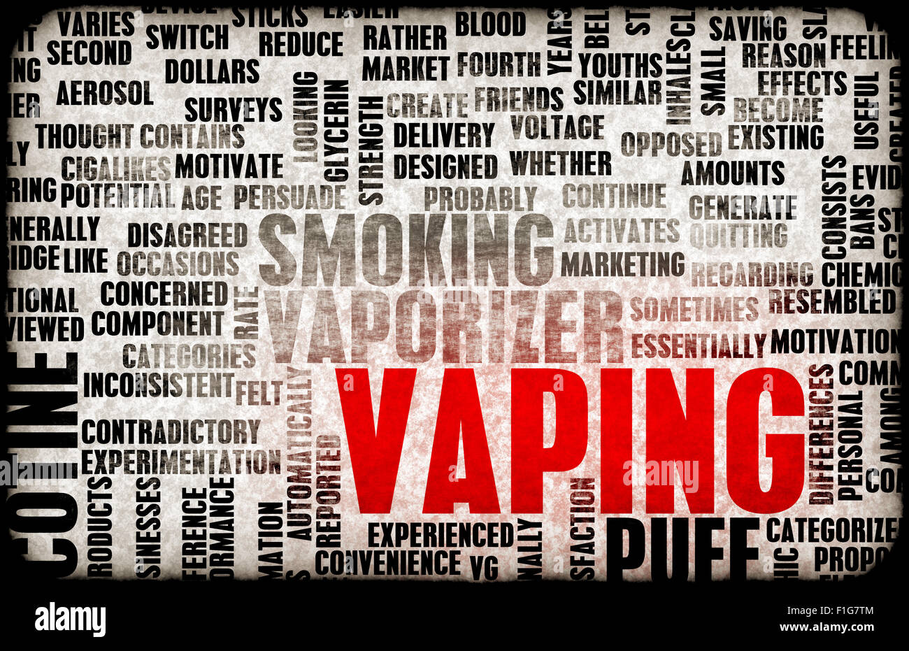 Vaping or an Electronic Cigarette as a Concept - Stock Image