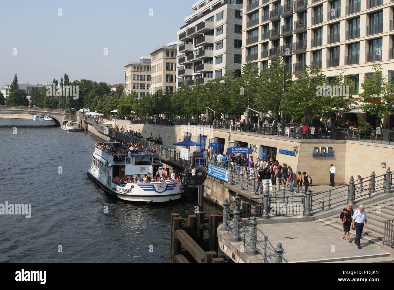 river spree berlin germany - Stock Image
