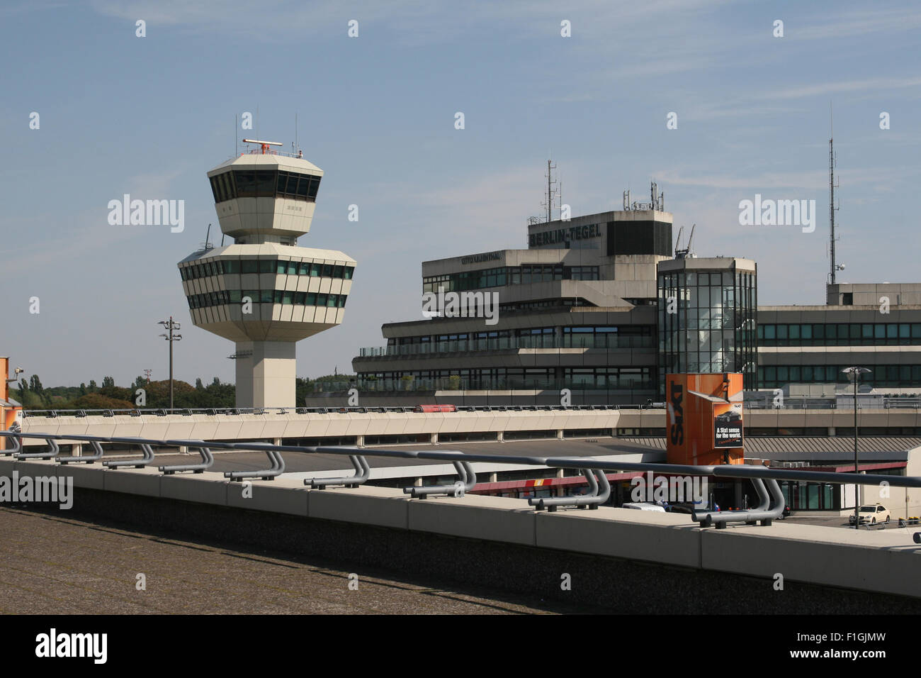 BERLIN TEGEL AIRPORT ATC TOWER CONTROL - Stock Image