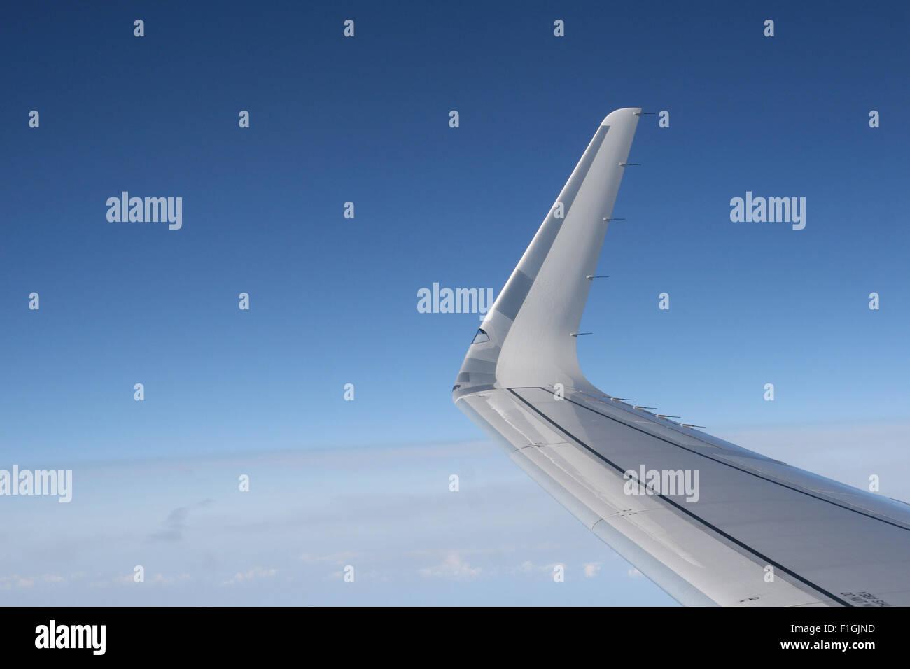 BRITISH AIRWAYS IN FLIGHT WINGLET FLYING - Stock Image