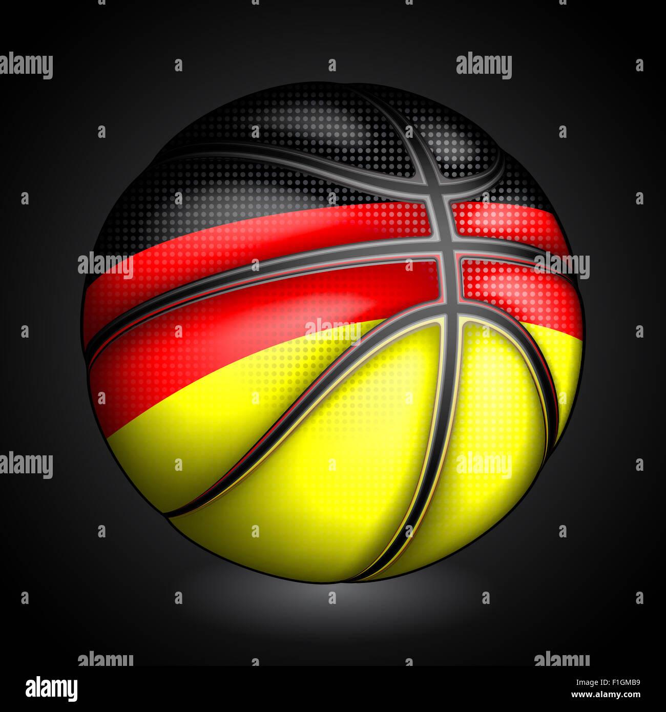 Germany  basket ball, vector - Stock Image