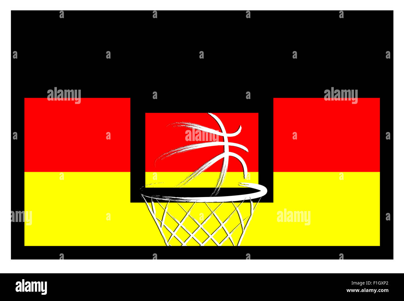 Germany  basket ball, vector - Stock Image