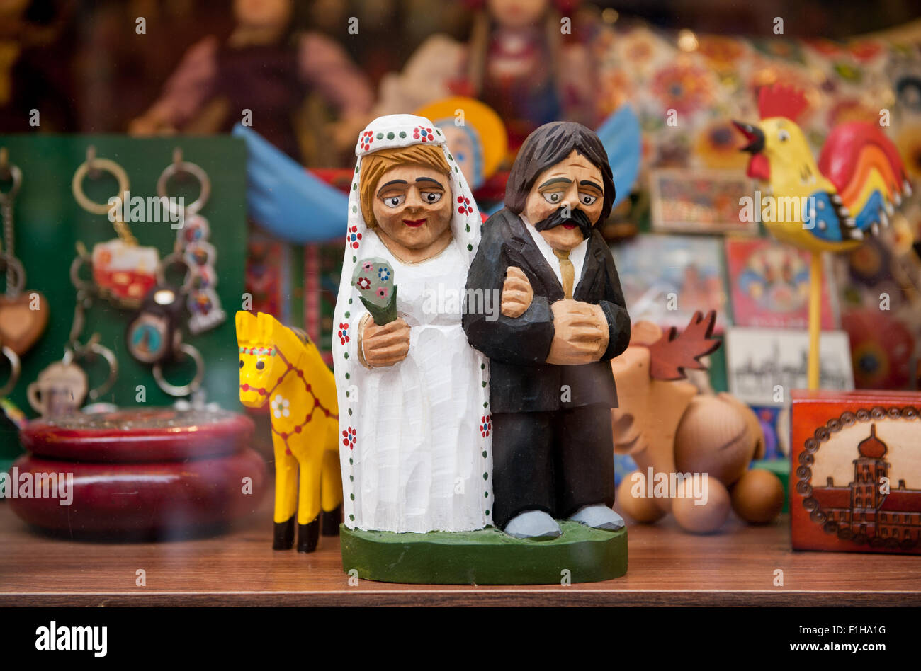 Wedding old newlyweds souvenir - Stock Image