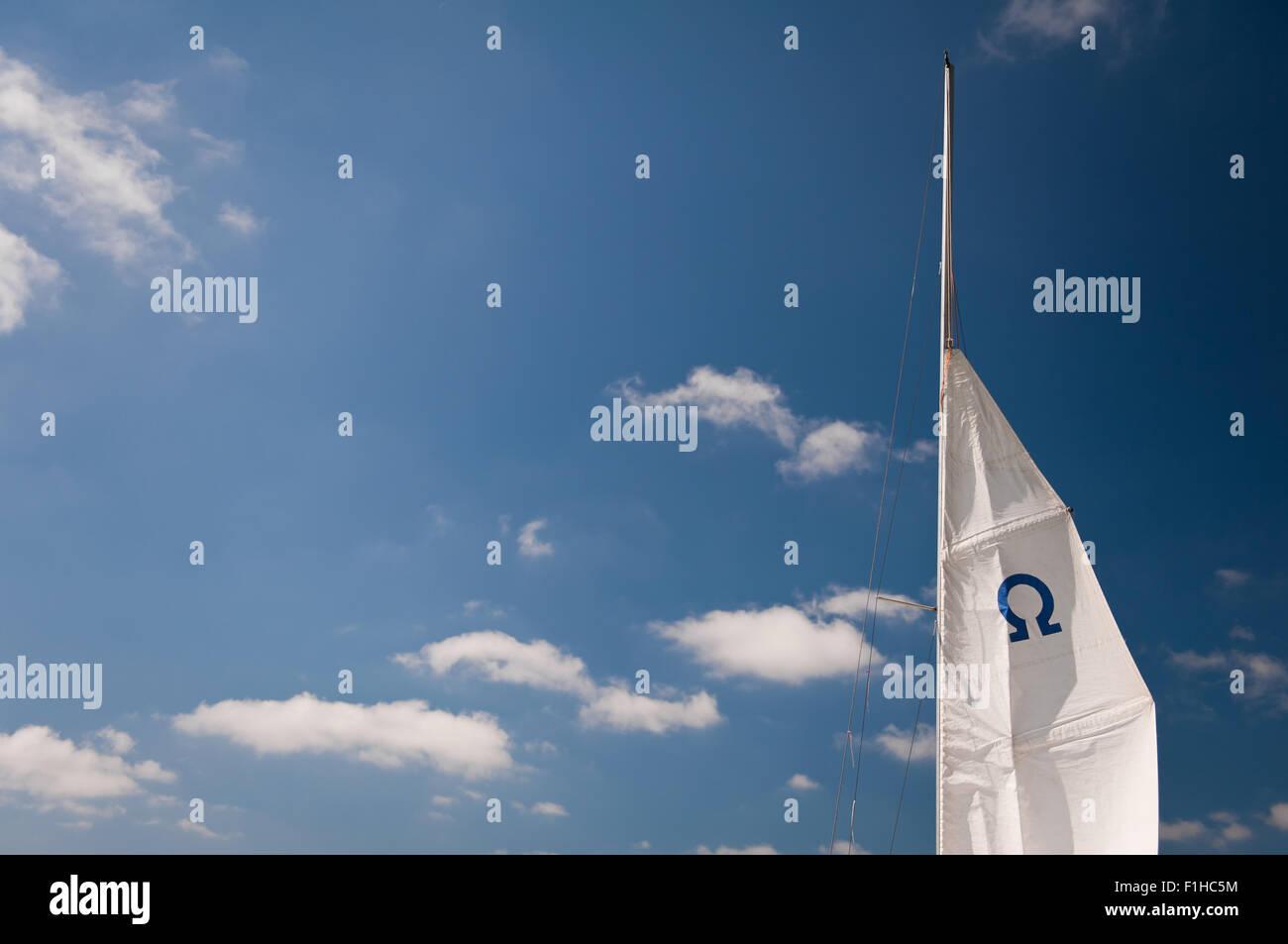 Omega symbol on mast - Stock Image
