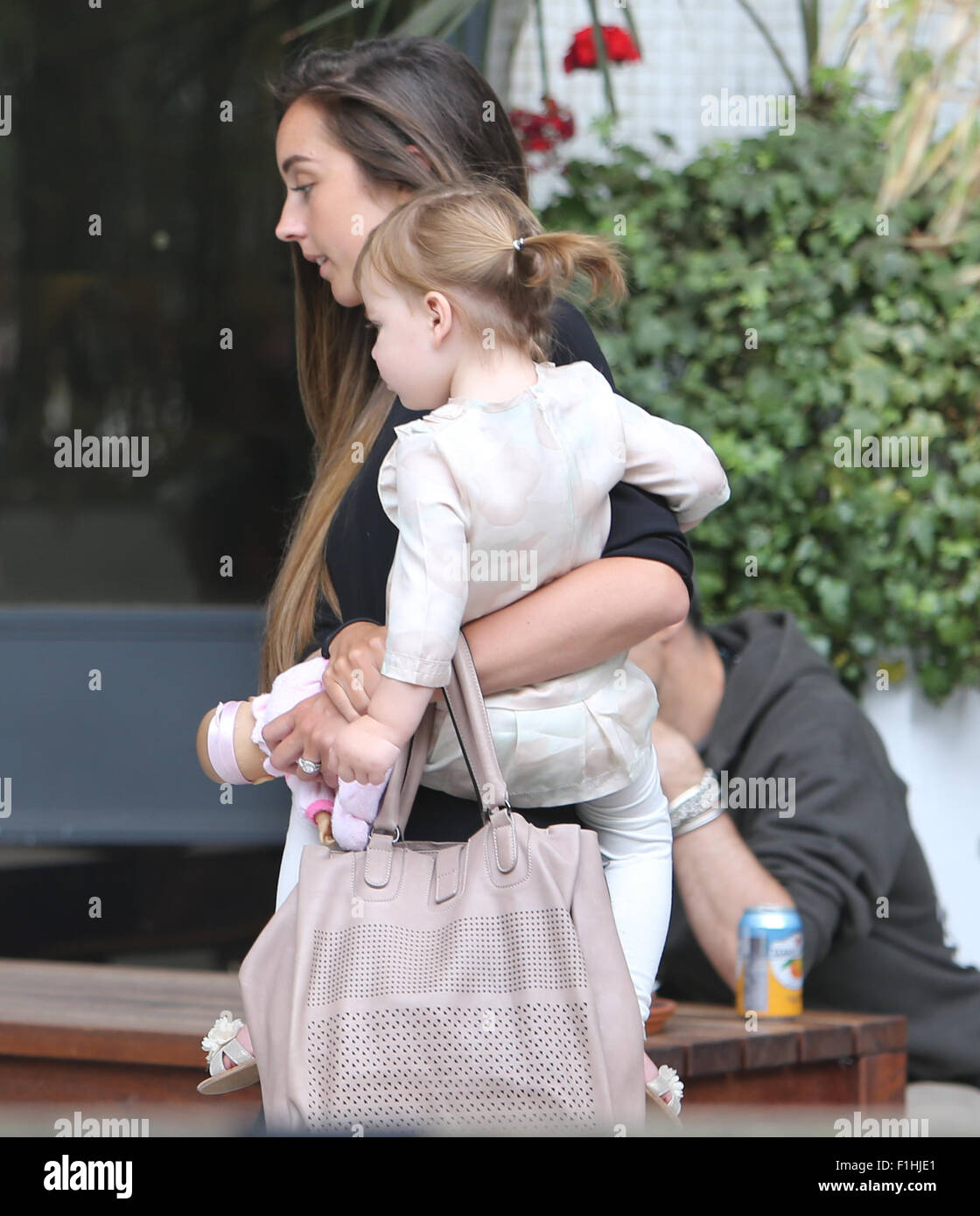 Peter Andre And Emily MacDonagh Outside The ITV Studios