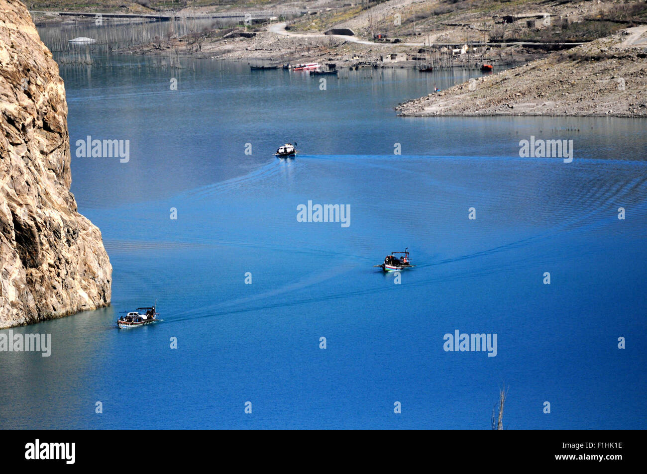 Attabad. 2nd Sep, 2015. Photo taken on Sept. 2, 2015 shows the scenery of Attabad Lake in northern Pakistan's - Stock Image