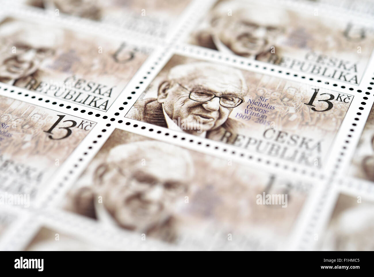 Nicholas Winton Prague High Resolution Stock Photography And Images Alamy