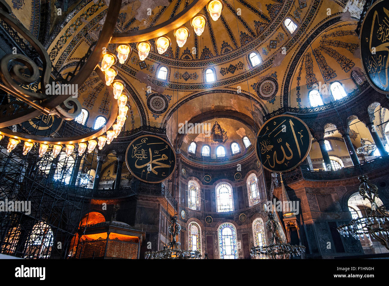 TURKEY, ISTANBUL: The Hagia Sophia is one of Istanbul's historical highlights in Sultanahmet, the historical - Stock Image