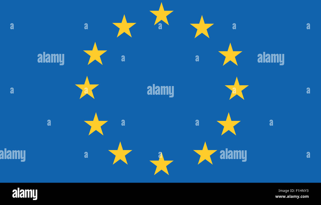 Fahne: Europaeische Union/ flag: European Union. - Stock Image