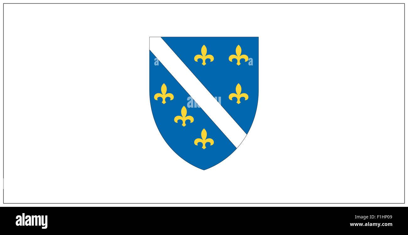 Fahne: Bosnien-Herzegovina/ flag: Bosnia. - Stock Image