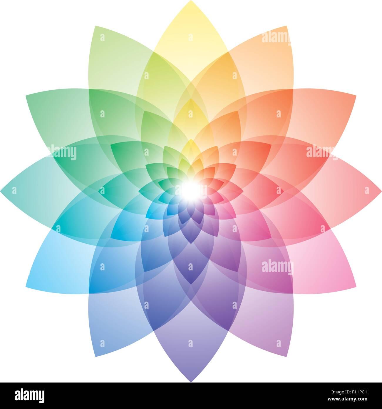 Beautiful Lotus Flower Color Wheel Vector Eps10 Stock Vector Art
