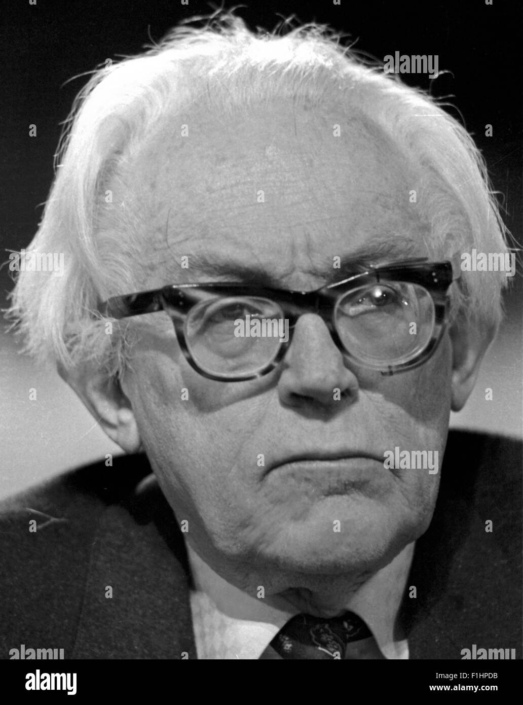 Michael Foot MP British Labour Politician - exclusive image by David Cole From the archives of Press Portrait Service - Stock Image
